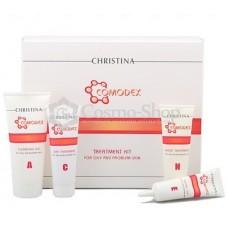 Christina Comodex Acne Kit 4 Items For Oily And Problematic Skin/  Набор высокоэффективной косметики для проблемной кожи 4пр.