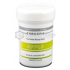 Christina Sea Herbal Beauty Mask Green Apple  (For Oily And Combination Skin)/ Яблочная маска красоты для жирной и комбинированной кожи 250 мл