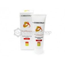 CHRISTINA Sunscreen Moisturizing Cream Physical W/ Vitamin E Tinted SPF 25 75ml / Солнцезащитный тональный крем с витамином Е и СПФ-25 (физический)